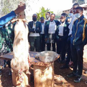 Nyukani Learners make organic cheese on educational excursion