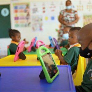 Nyukani kids all have tablets